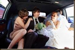 Свадьба Паровозик из Ромашково в лимузине