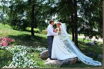 Красивое платье невесты