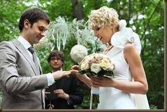 Помощник на свадьбе еще кольца