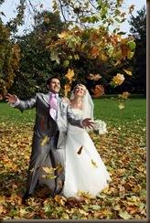 Осенний фотосет листья салют