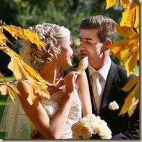 Свадебный стилист листья