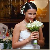Свадебный стилист бросок букета