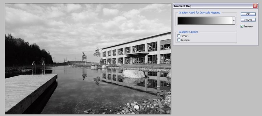 Черно белая фотография с помощью Gradient Map