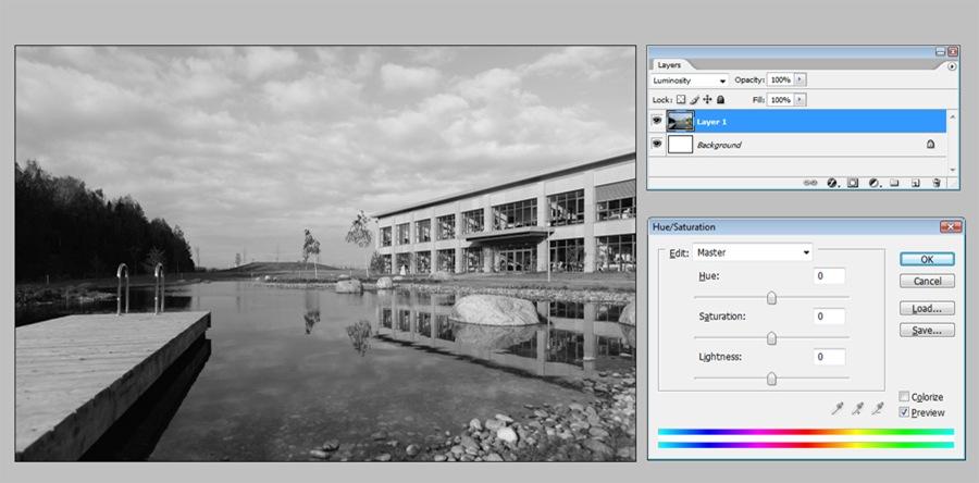 Черно белые фотографии через Luminosity H0