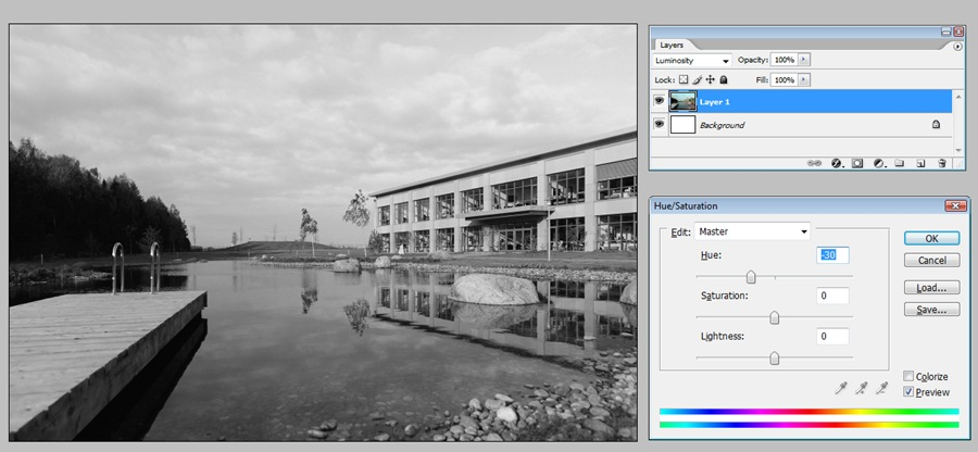 Черно белые фотографии через Luminosity H-30