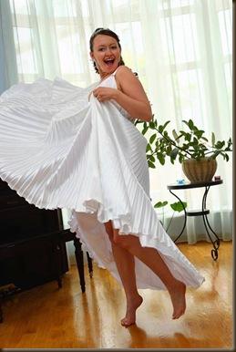 Невеста в платье белом